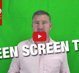 Green Screen Studio Test mit Camtasia