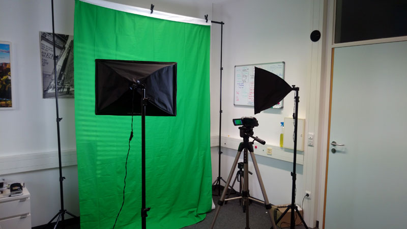Green Screen Studio in 5 Minuten aufgebaut